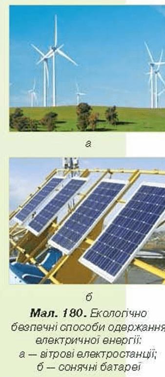 безпечні способи одержання електричної енергії