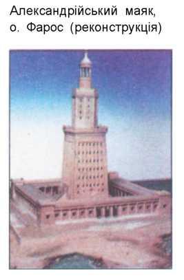 Александрійський маяк о. Фарос реконструкція