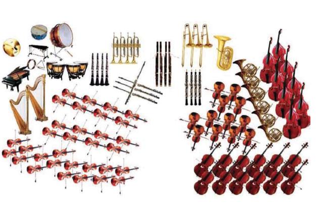 Гра знавець оркестру назвіть усі