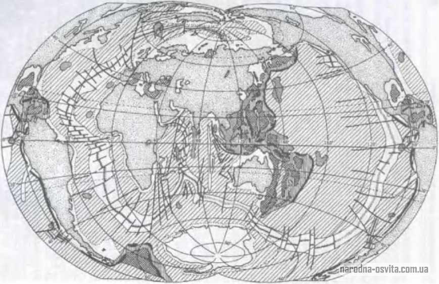 карта світового океану