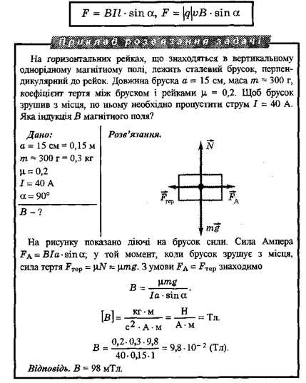 Приклади розв'язку задач. Магнітне поле. Вектор магнітної індукції