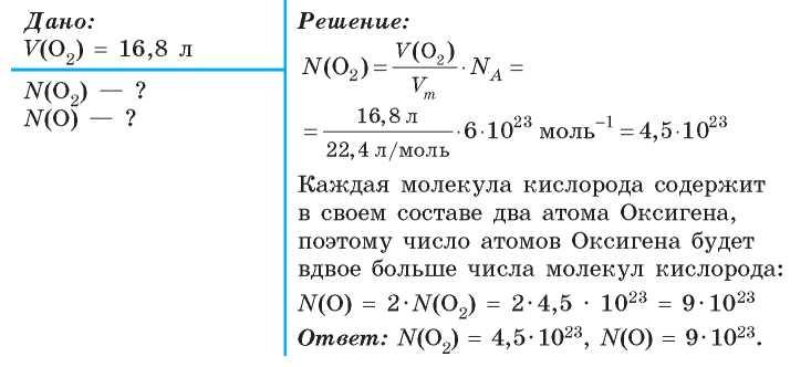 1 моль водорода занимает объем