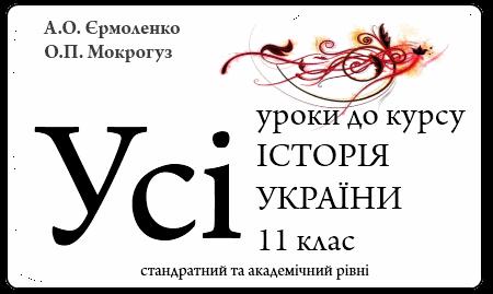 Усі уроки історі України 11 клас